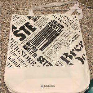 Lululemon White & Black  Shopping bag!